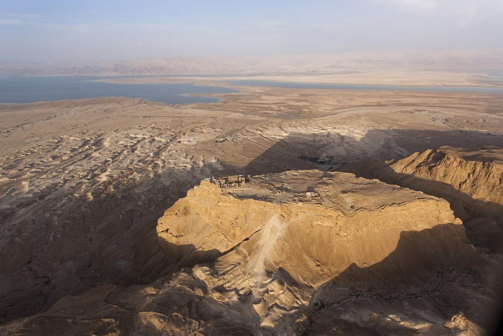 Mountains and canyons of Masada in Israel