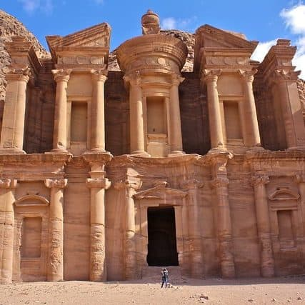 Monastery in the city of Petra in Jordan